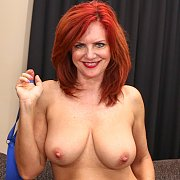 Busty Redhead Andi James Fingered and Fucked