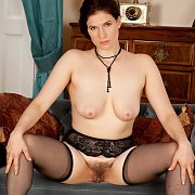 Open Legs Milf Showing Fur Box