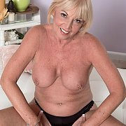 Mature Blonde Mom Topless In Panties