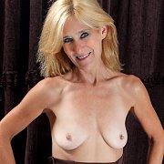 Blond Mature Woman Topless