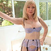 Bralette Lingerie On Mature Adult Actress