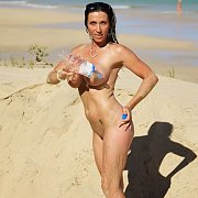 Hot Naked Milf On The Beach