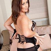 Lusty Brown Haired Mom In Black Panties