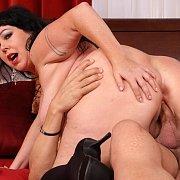 Fat Ass Woman Riding His Cock