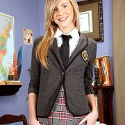 Blonde Legal Teen In Schoolgirl Uniform