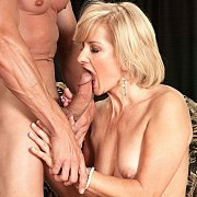 Sexy Blonde Mature Woman Giving Oral Sex