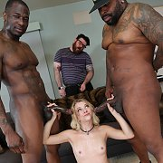 Big Black Bulls For A Little Blonde with Riley Star