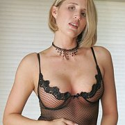 Blonde Sexy Milf In Her Lingerie