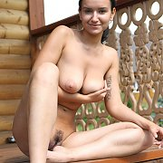 Chesty Nude At The Cabin