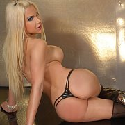 Boots And Thong Wearing Young TS Blonde