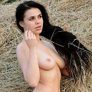 Busty Erotic Teen Naked In Haystack