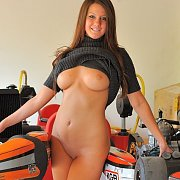 Busty Brunette Teen Coed By Go Karts