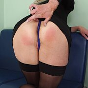 Upskirt Blonde In Stockings