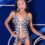 Lingerie Stripping Petite Thai Girl