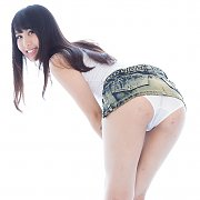Topless Dainty Brunette Teenie
