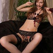 Fishnet Stockings Erotica Brunette