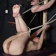 Foot Spanking Of Bound Japanese Slave Girl