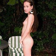 Petite Asian American Girl Nude In Backyard