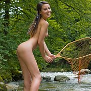 Pretty Skinny Teen Naked Outdoors