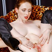 Pussy Spreading Pale Redhead Milf With Freckles