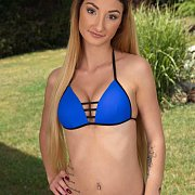 Euro Babe In A Blue Bikini