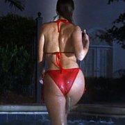 Sexy Ass Nikki Cox In Red Bikini All Wet