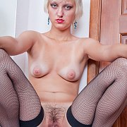 Russian Teen In Fishnets Has Furry Lust Hole