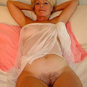 Mature Woman With Fuzzy Cunt