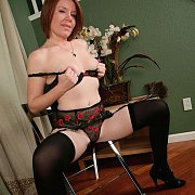 Red Haired Mature Lady Teasing