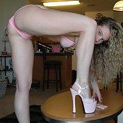 Amazing Rear End In Pink Bikini