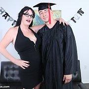 Sherry Stunn's Handjob Reward to Graduated StepSon