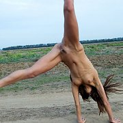Erotic Nude Teen Doing Cartwheel