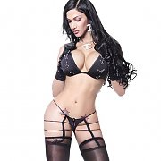 Hot Legs Shemale In Stockings And Tiny Outfit