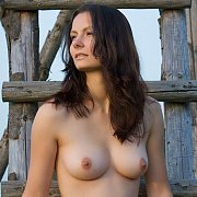 Beautiful European Babe With Natural Tits And Shaven Puss