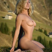 Outdoor Erotic Nude Model In The Mountains