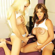 Two Busty Babes Playing with Angeles Cid, Naomi Chi