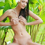 Slim Erotic Nude Posing Outside