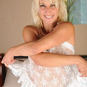 Pretty Milf In White Lingerie
