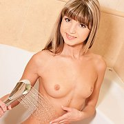Slim Petite Teen Gets Wet