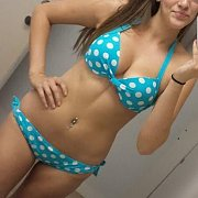Polka Dots Bikini Amateur Mirror Selfie