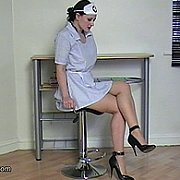 Pointy Heels Nurse In Nylons