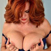 Big Titties Older Redhead Masturbates