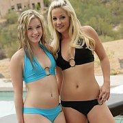 Couple Of Lovely Bikini Girls Smiling
