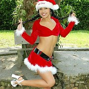 Braided Pigtails Xmas Latina Teen