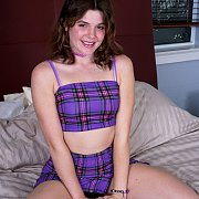 Tight Derriere Dark Haired Young Woman