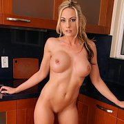Hot Nude Milf In The Kitchen