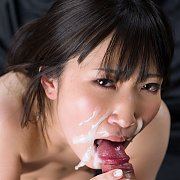 Asian Gets Blowjob Facial