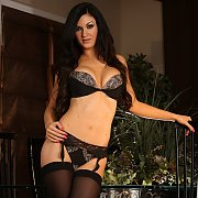Kendal Karson In Black Stockings