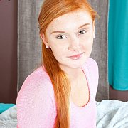 Just Legal Freckled Face Redhead Teen Cutie