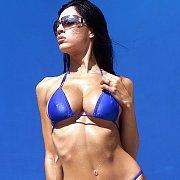 Fit Body Chick In A Blue Bikini